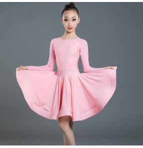 Girls competition training ballroom latin dance dresses kids stage performance modern dance latin dresses